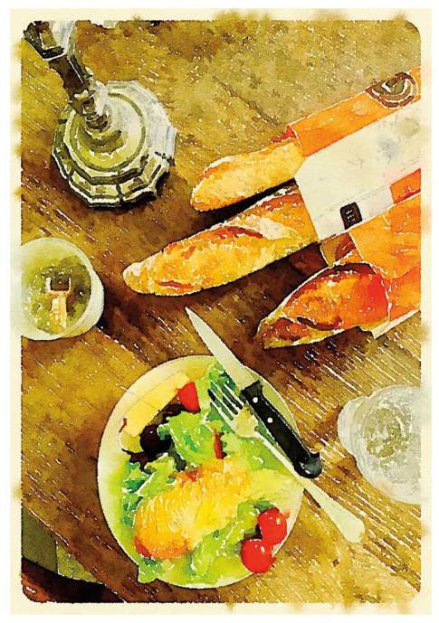 Scenes from a French Hotel - French Lunch © Robin E. H. Ove All Rights Reserved