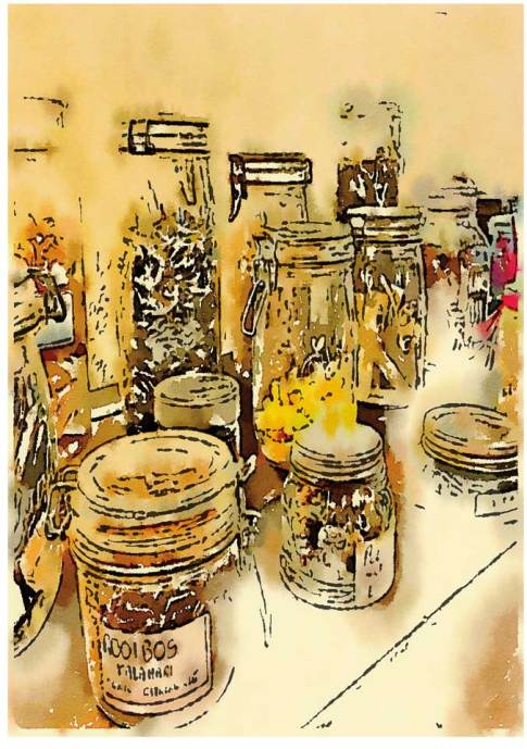 Scenes from a French Hotel - Spice Jars © Robin E. H. Ove All Rights Reserved