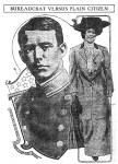 Newspaper image of Lt. Utley and Rose Sutton Parker