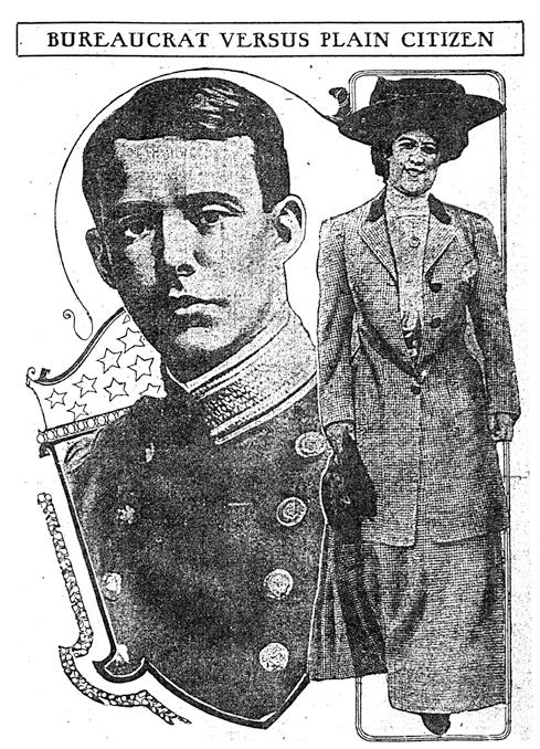 Newspaper image of Lt. Utley and Rose Sutton Parker
