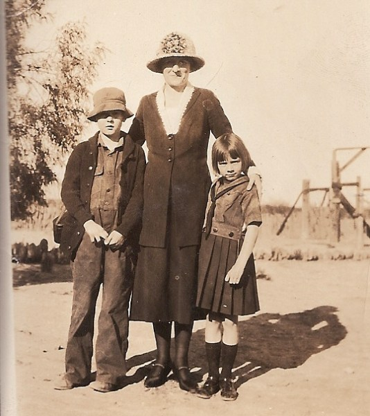 Daysie Hall with Dick and Jane in Salome circa 1925 Copr RRC