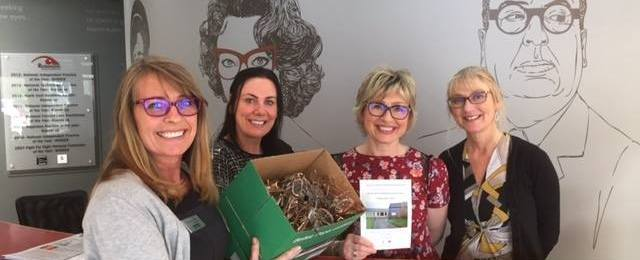Seaton Sluice collect 137 pairs of glasses!