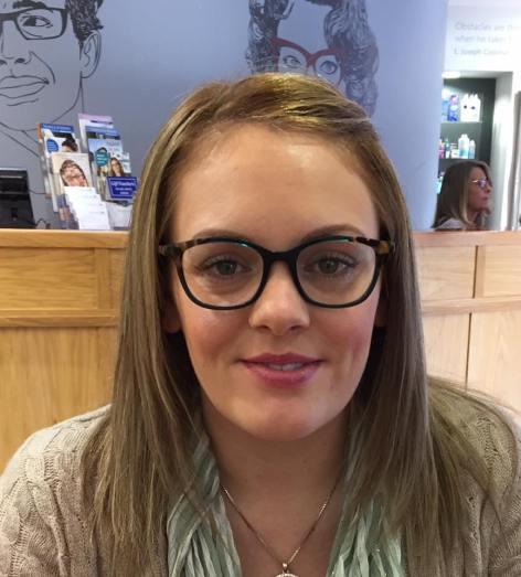 Lindsay Head in her WOOW designer eyewear