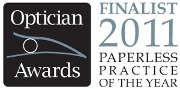 Optician Awards Paperless Practice of the Year Finalist Logo