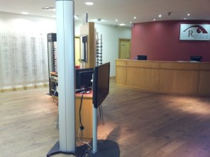 Robinson Optometrists interior premises view, after the flooding