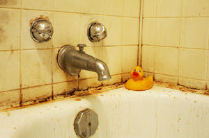 how to get rid of mold & mildew in the bathroom