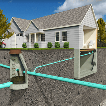 sewer lines under house