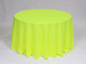 Neon Yellow tablecloth, linen and napkin rentals in Hudson and Framingham, MA