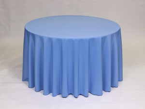 Periwinkle tablecloth, linen and napkin rentals in Hudson and Framingham, MA