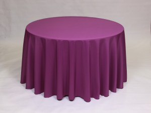 Plum tablecloth, linen and napkin rentals in Hudson and Framingham, MA