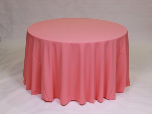 Salmon tablecloth, linen and napkin rentals in Hudson and Framingham, MA