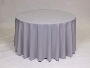 Silver tablecloth, linen and napkin rentals in Hudson and Framingham, MA