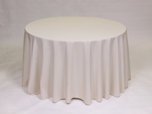 Tan tablecloth, linen and napkin rentals in Hudson and Framingham, MA