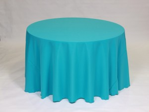 Turquoise tablecloth, linen and napkin rentals in Hudson and Framingham, MA