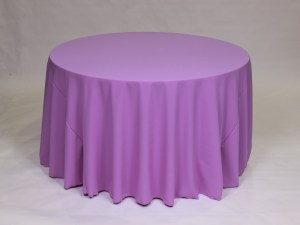 Violet tablecloth, linen and napkin rentals in Hudson and Framingham, MA