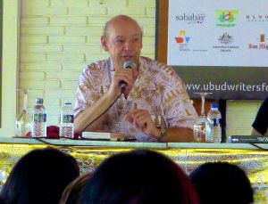 Don George speaking on Travel Panel at Ubud Writers and Readers Festival in Ubud, Bali, Oct 2013