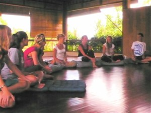 Participants at a Philosophers' Discussion Group in the Yoga Barn - Ubud, Bali