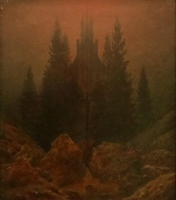Caspar-David-Friedrich---Kreuz-im-Gebirge