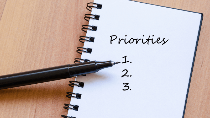 priorities listed 1 2 3
