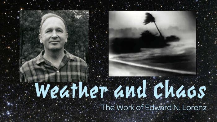 Weather and Chaos: The Work of Edward N. Lorenz