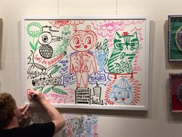 Live drawing at Isetan