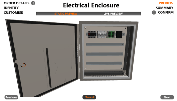 Electrical Enclosure: Preview Form