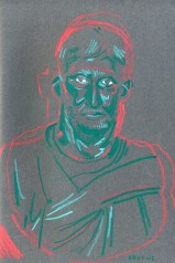 Brutus (Watercolour crayon - 21 x 15 cm)