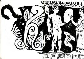 Greek vase 2 (ink - 21 x 29 cm)