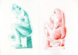 Little hand (watercolour crayon - 29 x 42 cm)