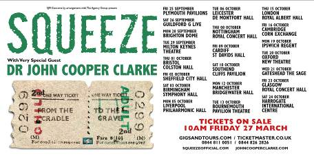"""Squeeze announce """"From The Cradle To The Grave Tour"""", plus first album of new material for 17 years."""