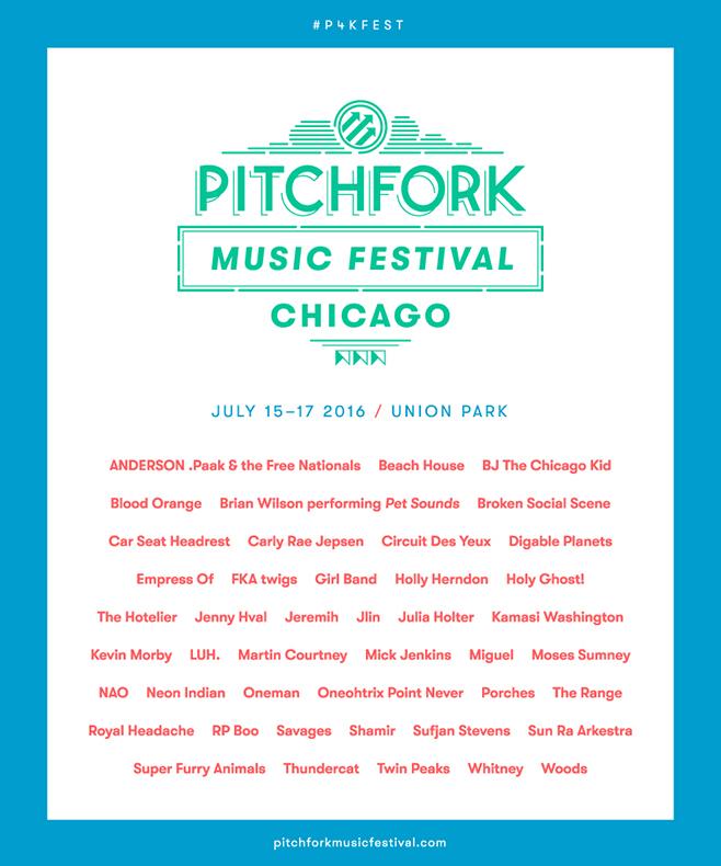 Pitchfork Music Festival Chicago 2016