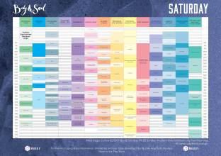 Body&Soul Saturday Line Up