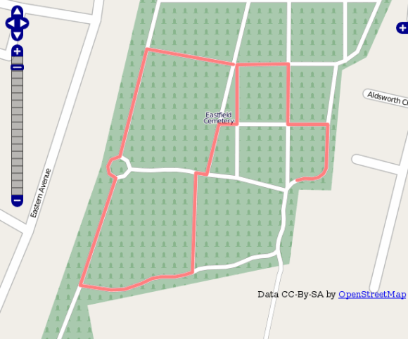 cemetary random walk