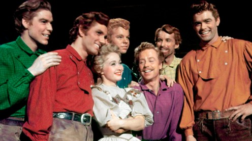 Title: SEVEN BRIDES FOR SEVEN BROTHERS ¥ Pers: D'AMBOISE, JACQUES / RALL, TOMMY / POWELL, JANE / TAMBLYN, RUSS / PLATT, MARC / MATTOX, MATT / RICHARDS, JEFF ¥ Year: 1954 ¥ Dir: DONEN, STANLEY ¥ Ref: SEV005AL ¥ Credit: [ MGM / THE KOBAL COLLECTION ]
