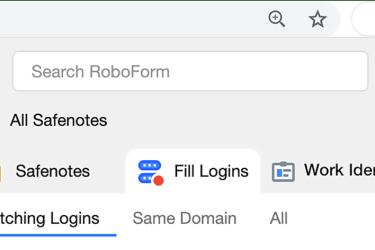New RoboForm Browser Extension