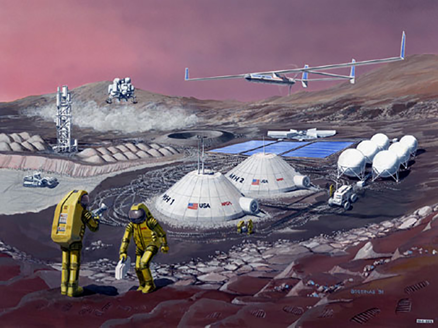 Artist's impression of Martian colony. Image credit: NASA