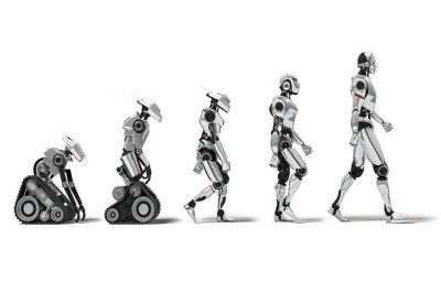 An image of the evolution of robotics