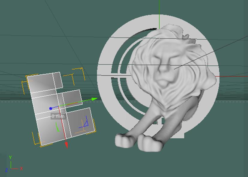 3D-modellen van een Effie Award en een Lion Award in een CAD programma.