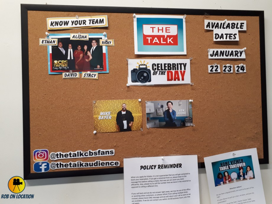 The Talk daily board