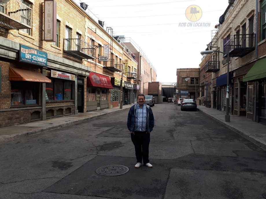 me at the CBS New York City backlot from Seinfeld