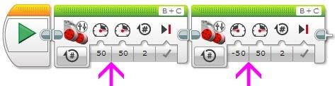 Программный блок - Независимое управление моторами
