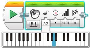 Программный блок Звук. Воспроизвести ноту.