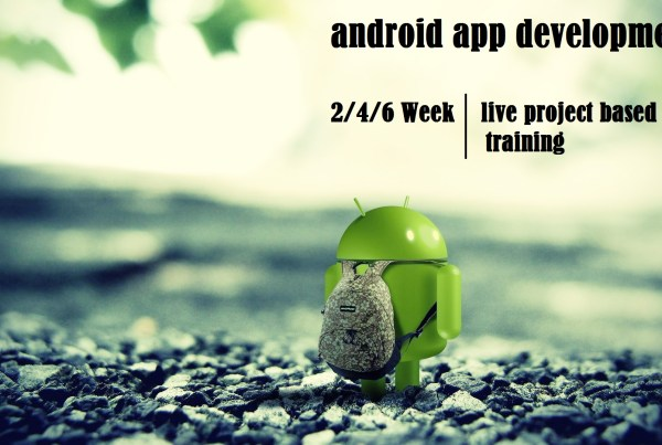 summer training on android app development