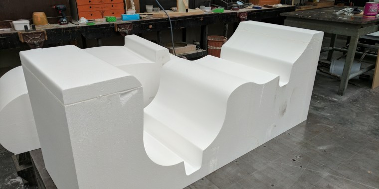 EPS foam cutting