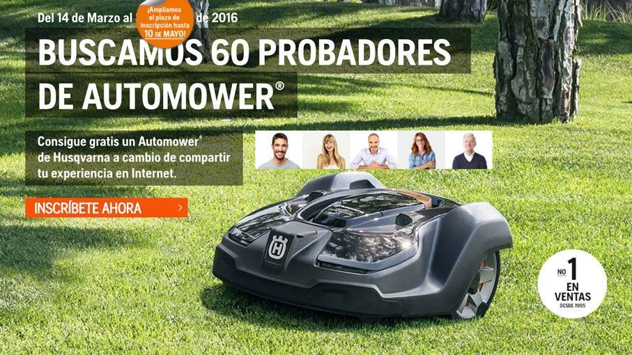 probador oficial de un robot cortacésped Automower
