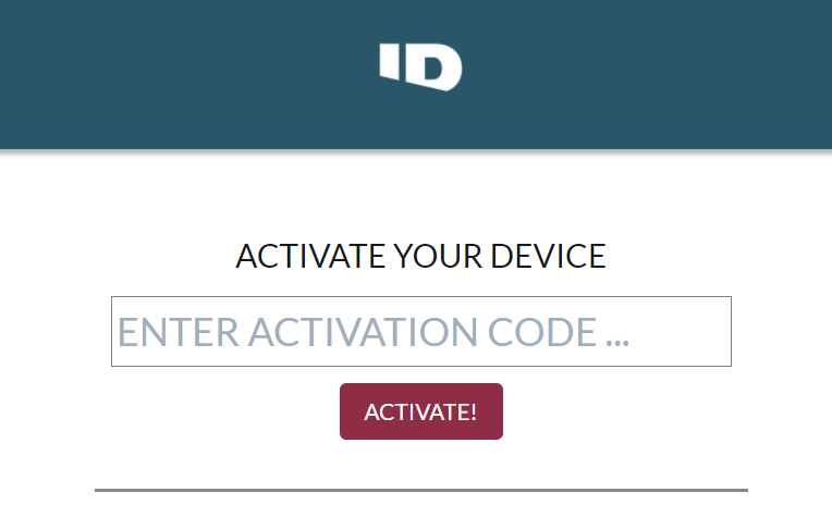 Investigation Discovery GO Activate