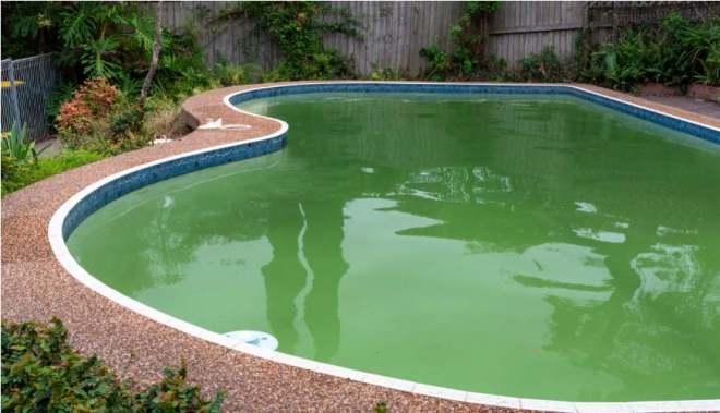 Cloudy Swimming Pool Water
