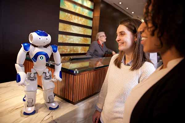 IBM's Connie the Hilton concierge is based Aldebaran's Nao robot, but uses Watson's AI