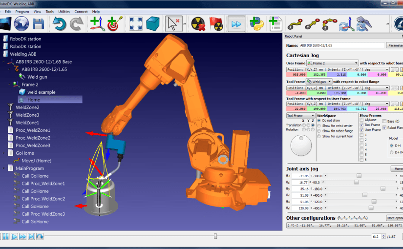 Offline programming software for industrial robots from RoboDK offers hundreds of virtual industrial robots from top robotics companies
