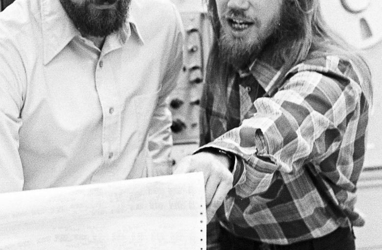 Stanford's Martin Hellman, left, and Whitfield Diffie, shown in 1977